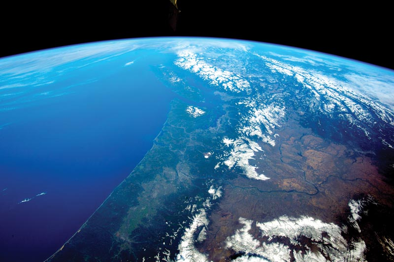 The Pacific Northwest from space.