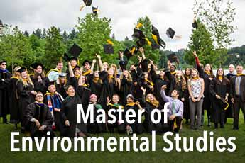 Master of Environmental Studies hooding ceremony