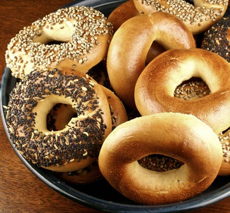 A Month of New York Bagels. Donated by Nancy Koppelman '88.