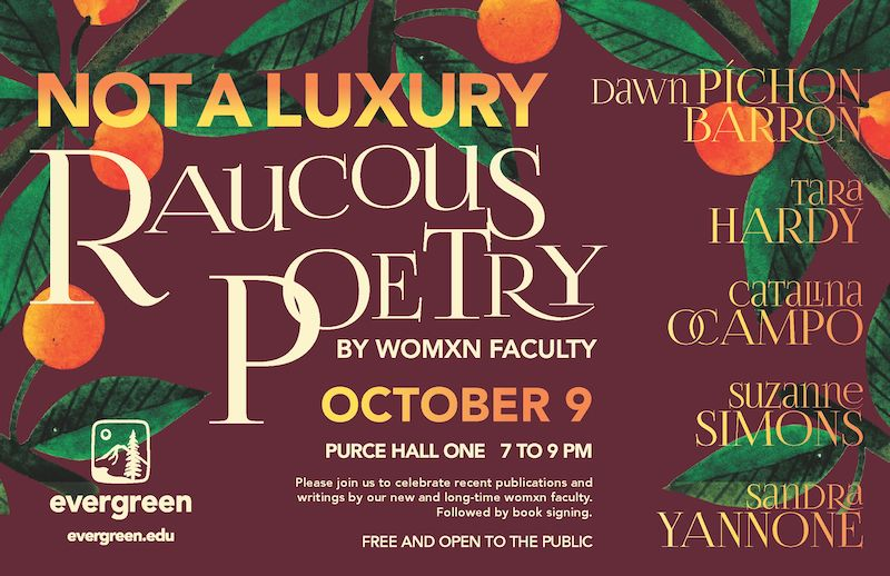 Evergreen to Host Womxn's Poetry Reading Wednesday, Oct. 9