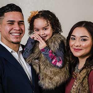 Martin Ramirez '17 and family