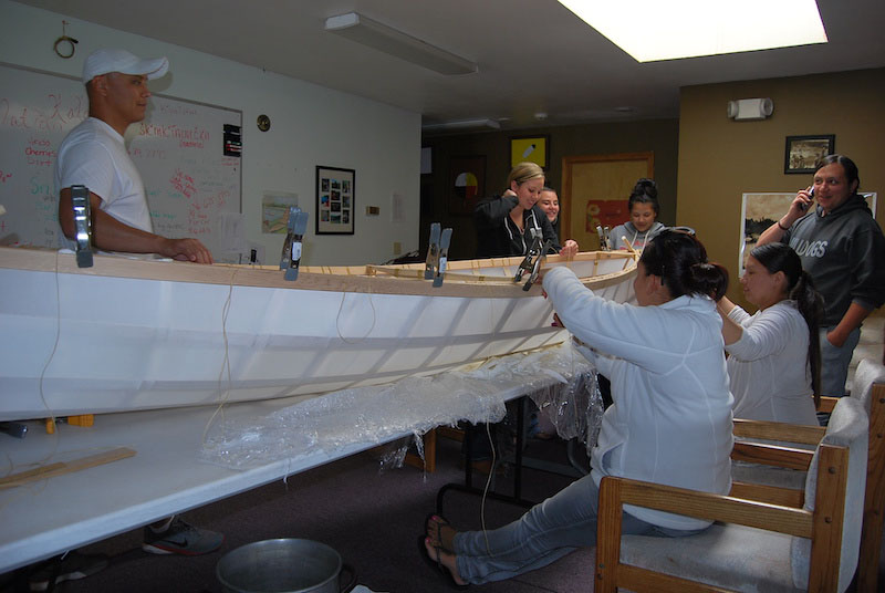 Shawn Brigman, Phd. is reviving Salish Sturgeon Nose canoe culture on the Upper Columbia waterways with support from the Longhouse's Northwest Heritage Program.