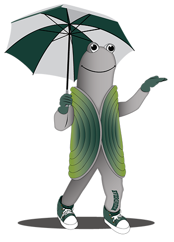 Speedy, Evergreen's geoduck mascot