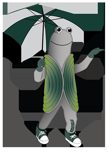 Speedy, Evergreen's geoduck mascot