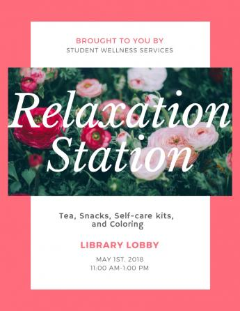 Student Wellness Services Relaxation Station Event