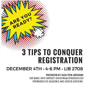 flier for 3 tips for registration workshop
