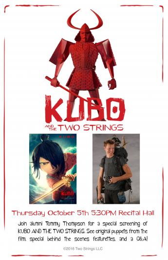 Images from Kubo and the Two Strings, and a photo of stop-motion artist Tommy Thompson.