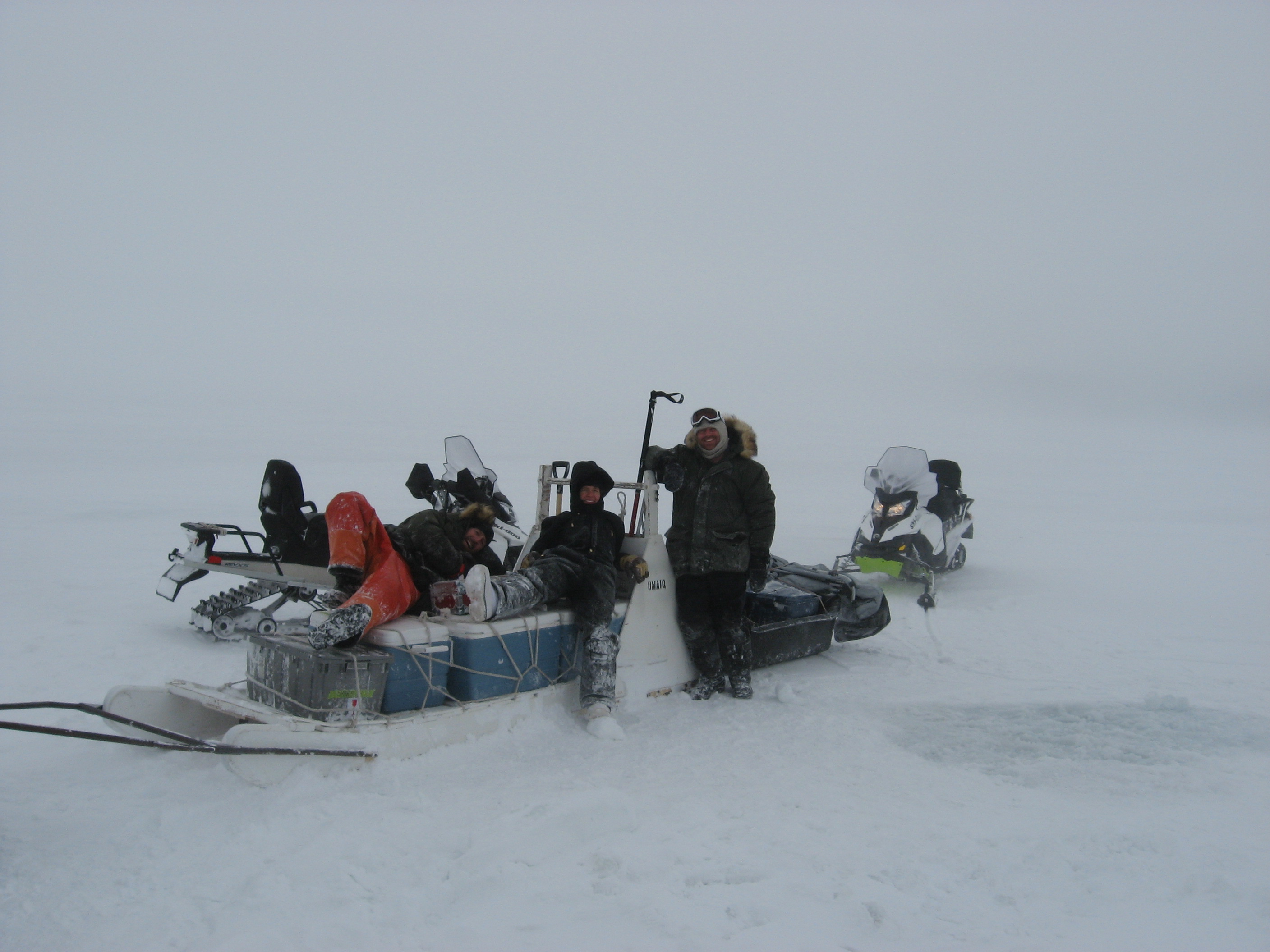John Kirkpatrick and fellow researchers out on sea ice