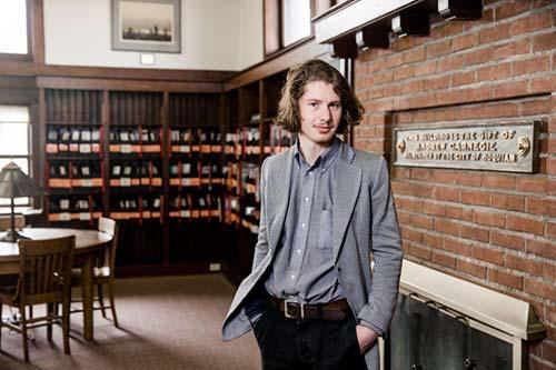 Waylon Robert in the historical Hoquiam Timberland Library