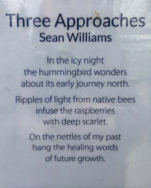 "Sean Williams poem ""Three Approaches"" installation"