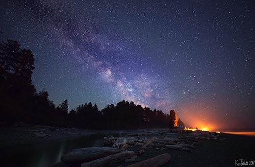 Ken Tabbutt sunset photo with stars and milky way