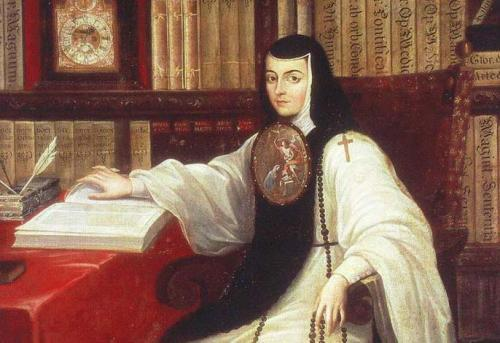 Portrait of Sorjuana in the library