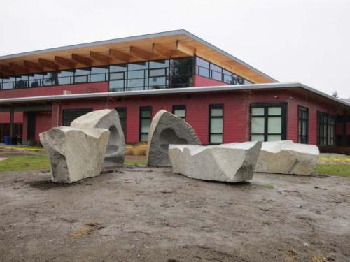 Vashon high school sculpture installation