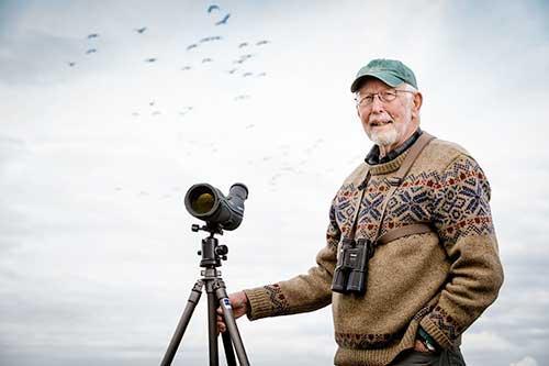 Steve Herman in the field