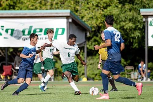 Hassan plays soccer for The Evergreen State College