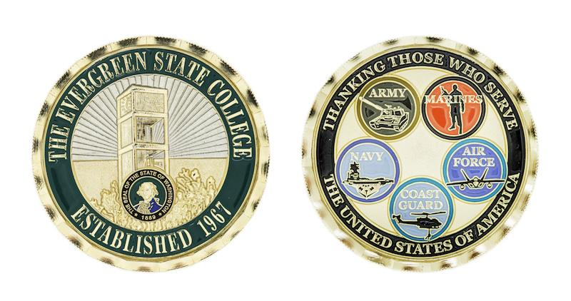 The Evergreen Veterans Challenge Coin was redesigned in 2015.