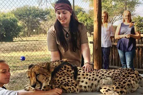 Evergreen student studies wildlife rehabilitation in Africa
