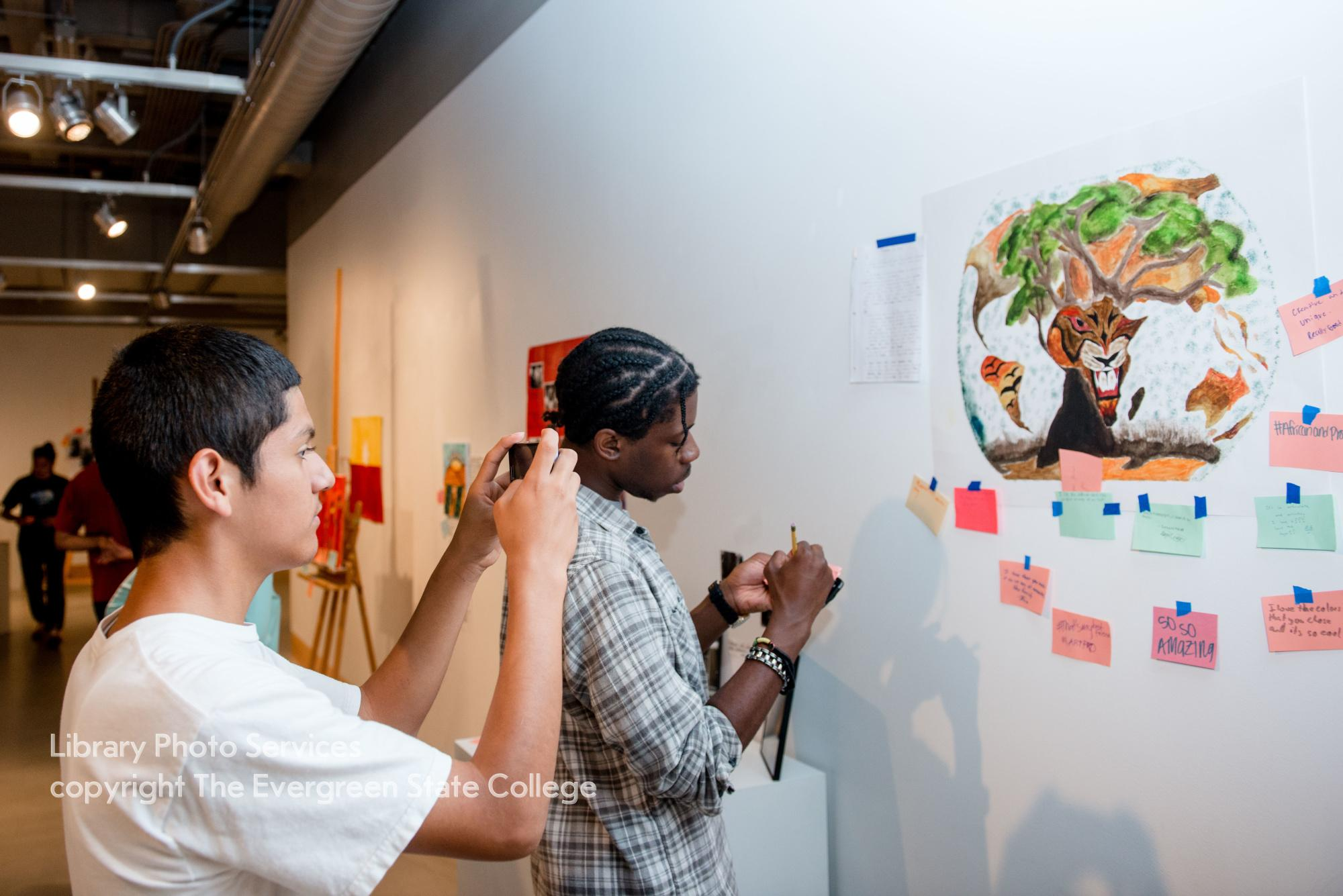 Upward Bound students and their art