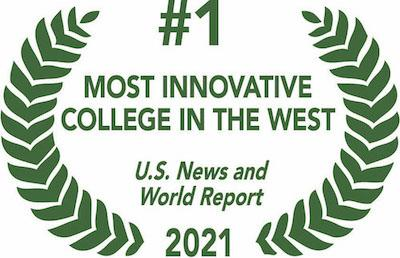 number 1 most innovative college in the west 2021