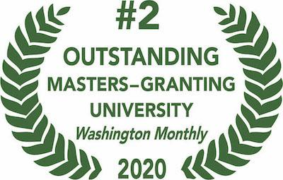 number 2 outstanding master-granting university 2020