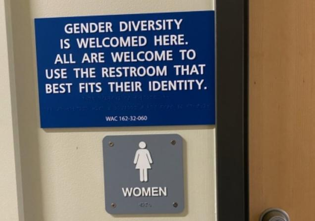 Photo of Gender Neutrality Restroom Sign in City of Olympia Buildings