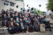Evergreen MPA hooding ceremony 2019