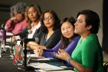 Sen. Emily Randall (D-Bremerton), Rep. My-Linh Thai (D-Bellevue), Rep. Melanie Morgan (D-Parkland), Sen. Mona Das (D-Kent), and Rep. Debra Entenman (D-Kent) spoke on a panel on Friday, Nov. 15 at The Evergreen State College's annual Equity Symposium