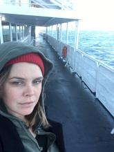 Christine Davis on ferry