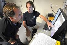 LAZ lookin at X rays of injured condor