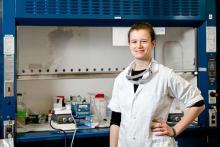 Tamara Kolden in the lab