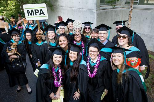 MPA students graduating