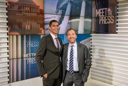 Louie Gasper and Chuck Todd