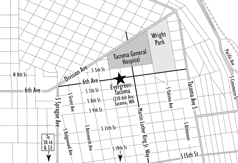 Map of the Tacoma Program location