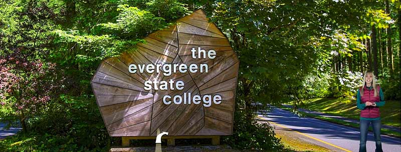 Screenshot of the Evergreen campus virtual tour.