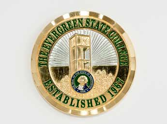 Evergreen challenge coin design